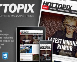 Hot Topix - Modern Wordpress Magazine Theme http://www.Erugu.com