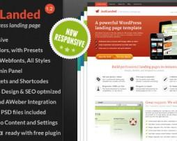JustLanded v1.1.2 WordPress Landing Page http://www.Erugu.com