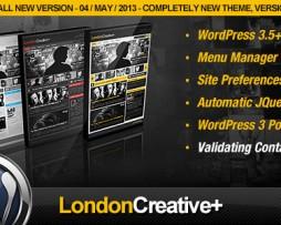 London Creative + (Portfolio & Blog WP Theme) http://www.Erugu.com