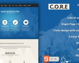 Core - One Page Responsive HTML5 Template http://www.Erugu.com