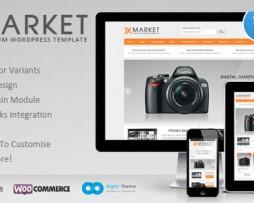 XMarket - Responsive WordPress E-Commerce Theme http://www.Erugu.com
