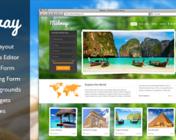 Midway - Responsive Travel WP Theme http://www.Erugu.com