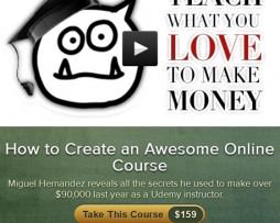 Miguel Hernandez – How to Create an Awesome Online Course http://www.Erugu.com